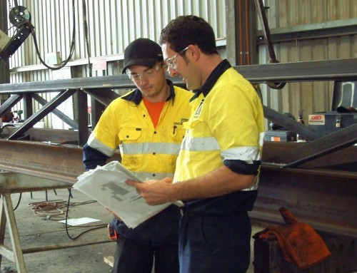 Peter & Ryley assessing paperwork